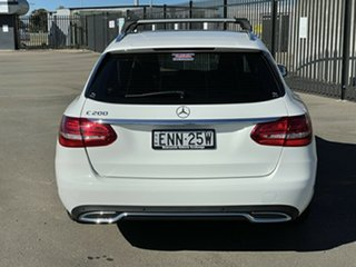 2016 Mercedes-Benz C-Class S205 807MY C200 Estate 7G-Tronic + White 7 Speed Sports Automatic Wagon