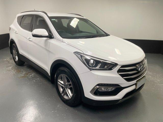 Used Hyundai Santa Fe DM5 MY18 Active Hamilton, 2018 Hyundai Santa Fe DM5 MY18 Active White 6 Speed Sports Automatic Wagon