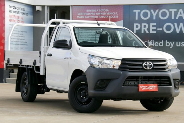 Pre-Owned Toyota Hilux TGN121R Workmate 4x2 Guildford, 2017 Toyota Hilux TGN121R Workmate 4x2 Glacier White 6 Speed Automatic Cab Chassis
