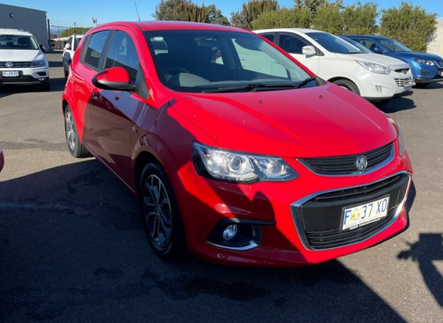Used Holden Barina TM MY18 LS Devonport, 2017 Holden Barina TM MY18 LS Absolute Red 6 Speed Automatic Hatchback