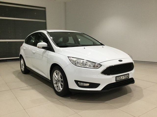 Used Ford Focus LZ Trend Alexandria, 2017 Ford Focus LZ Trend Frozen White 6 Speed Automatic Hatchback