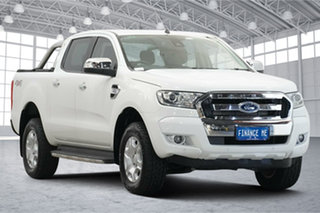 2016 Ford Ranger PX MkII XLT Double Cab Cool White 6 Speed Manual Utility.