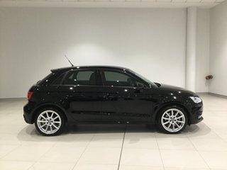 2015 Audi A1 8X MY16 Sport Sportback S Tronic Brilliant Black 7 Speed Sports Automatic Dual Clutch.