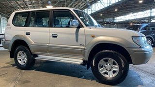 1999 Toyota Landcruiser Prado VZJ95R Grande White 4 Speed Automatic Wagon.