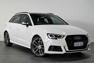 2018 Audi S3 8V MY18 Sportback Quattro White 6 Speed Manual Hatchback.
