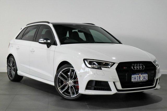 Used Audi S3 8V MY18 Sportback Quattro Bayswater, 2018 Audi S3 8V MY18 Sportback Quattro White 6 Speed Manual Hatchback