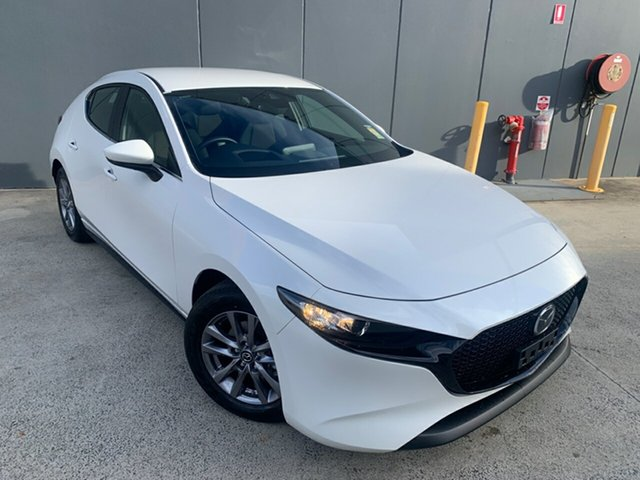 New Mazda 3 BP2H7A G20 SKYACTIV-Drive Pure Alexandria, 2021 Mazda 3 BP2H7A G20 SKYACTIV-Drive Pure Snowflake White 6 Speed Sports Automatic Hatchback