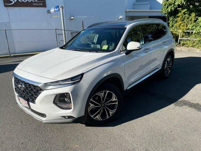 Demo Hyundai Santa Fe TM.2 MY20 Highlander Springwood, 2020 Hyundai Santa Fe TM.2 MY20 Highlander White Cream 8 Speed Sports Automatic Wagon