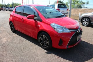 2015 Toyota Yaris NCP130R Ascent Cherry 5 Speed Manual Hatchback.
