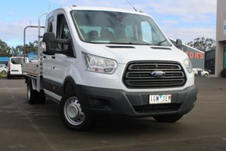 2016 Ford Transit VO MY17.25 470E LWB White 6 Speed Manual Dual Cab Chassis.