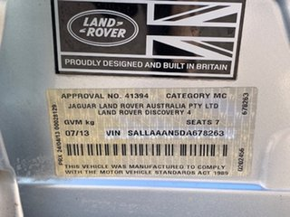 2013 Land Rover Discovery 4 Series 4 L319 MY13 TDV6 Silver 8 Speed Sports Automatic Wagon