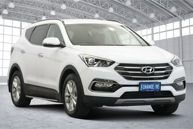 Used Hyundai Santa Fe DM3 MY17 Elite Victoria Park, 2017 Hyundai Santa Fe DM3 MY17 Elite White 6 Speed Sports Automatic Wagon