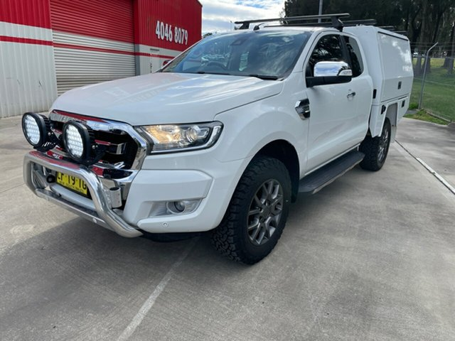 Used Ford Ranger PX MkII XLT Super Cab Maitland, 2016 Ford Ranger PX MkII XLT Super Cab White 6 Speed Sports Automatic Utility