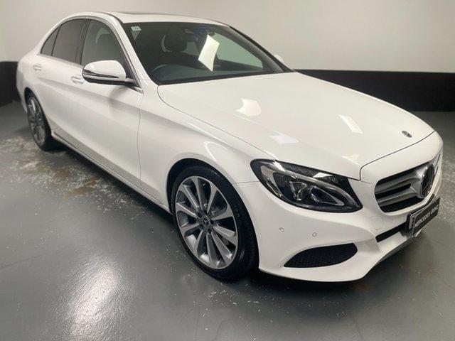 Used Mercedes-Benz C-Class W205 808MY C300 9G-Tronic Newcastle West, 2018 Mercedes-Benz C-Class W205 808MY C300 9G-Tronic White 9 Speed Sports Automatic Sedan