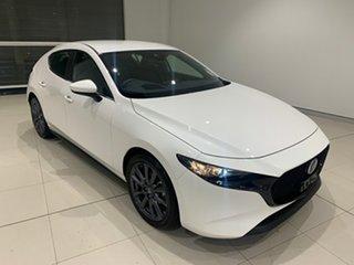 2021 Mazda 3 BP2H7A G20 SKYACTIV-Drive Evolve Snowflake White 6 Speed Sports Automatic Hatchback.