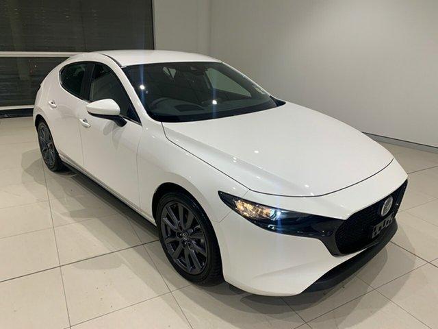 New Mazda 3 BP2H7A G20 SKYACTIV-Drive Evolve Alexandria, 2021 Mazda 3 BP2H7A G20 SKYACTIV-Drive Evolve Snowflake White 6 Speed Sports Automatic Hatchback