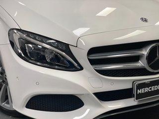 2018 Mercedes-Benz C-Class W205 808MY C300 9G-Tronic White 9 Speed Sports Automatic Sedan.