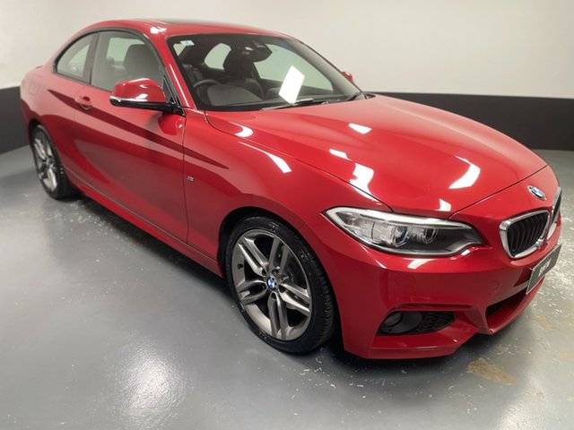 Used BMW 2 Series F22 220i M Sport Newcastle West, 2017 BMW 2 Series F22 220i M Sport Melbourne Red 8 Speed Sports Automatic Coupe