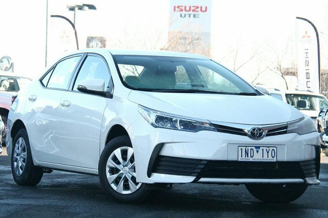 Used Toyota Corolla ZRE172R Ascent S-CVT Essendon North, 2018 Toyota Corolla ZRE172R Ascent S-CVT White 7 Speed Constant Variable Sedan