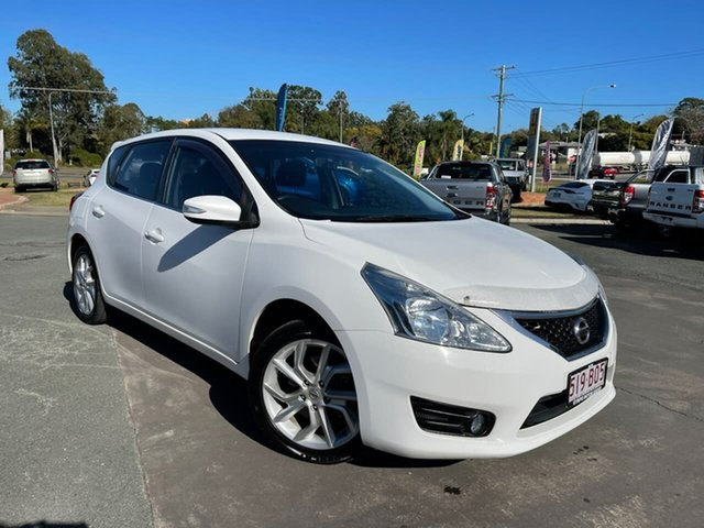 Used Nissan Pulsar C12 ST Gympie, 2013 Nissan Pulsar C12 ST White 1 Speed Constant Variable Hatchback