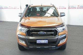 2015 Ford Ranger PX MkII Wildtrak 3.2 (4x4) Orange 6 Speed Manual Dual Cab Pick-up.