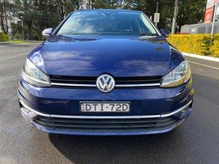 2017 Volkswagen Golf 7.5 MY18 110TSI DSG Comfortline Blue 7 Speed Sports Automatic Dual Clutch.