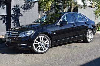 2010 Mercedes-Benz C-Class W204 MY10 C220 CDI Avantgarde Black 5 Speed Automatic Sedan.