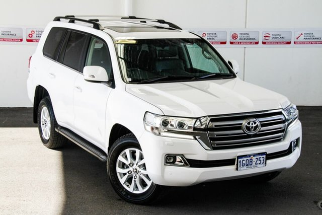 Pre-Owned Toyota Landcruiser VDJ200R LC200 VX (4x4) Myaree, 2018 Toyota Landcruiser VDJ200R LC200 VX (4x4) Glacier White 6 Speed Automatic Wagon