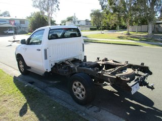 2006 Toyota Hilux GGN25R MY07 SR White 5 Speed Manual Cab Chassis