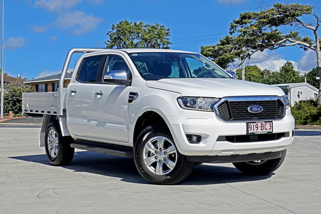 Used Ford Ranger PX MkIII 2021.25MY XLT Double Cab Capalaba, 2021 Ford Ranger PX MkIII 2021.25MY XLT Double Cab White 6 Speed Sports Automatic Double Cab Chassis