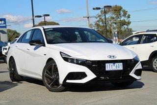 2021 Hyundai i30 CN7.V1 MY21 N Line D-CT White 7 Speed Sports Automatic Dual Clutch Sedan
