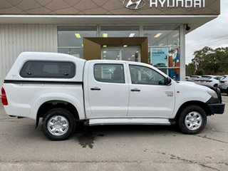 2012 Toyota Hilux KUN26R MY12 Workmate Double Cab White 4 Speed Automatic Utility