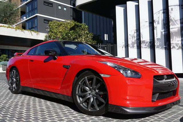 Used Nissan GT-R R35 Premium East Brisbane, 2009 Nissan GT-R R35 Premium Vibrant Red 6 Speed Sports Automatic Dual Clutch Coupe