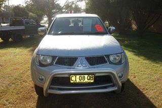2011 Mitsubishi Triton MN MY11 GLX-R Double Cab Silver, Chrome 5 Speed Sports Automatic Utility.
