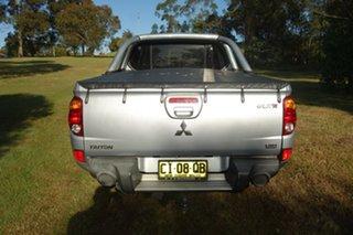 2011 Mitsubishi Triton MN MY11 GLX-R Double Cab Silver, Chrome 5 Speed Sports Automatic Utility