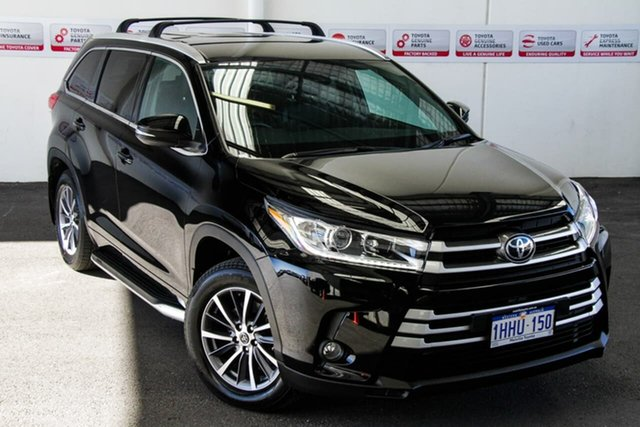 Pre-Owned Toyota Kluger GSU55R GXL AWD Rockingham, 2019 Toyota Kluger GSU55R GXL AWD Eclipse Black 8 Speed Sports Automatic Wagon