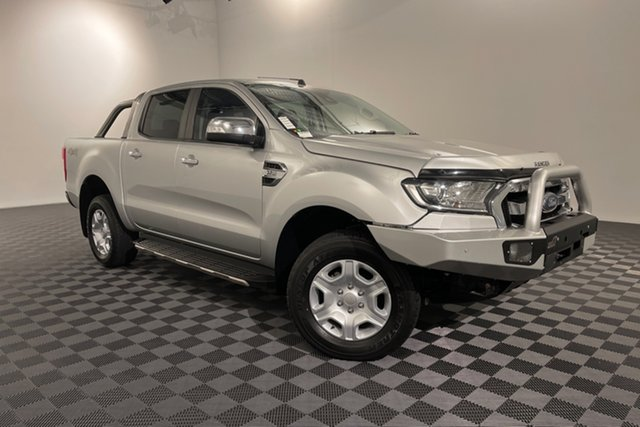 Used Ford Ranger PX MkII XLT Double Cab Acacia Ridge, 2017 Ford Ranger PX MkII XLT Double Cab Silver 6 speed Automatic Utility