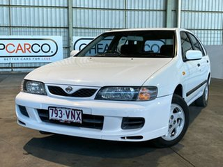 1999 Nissan Pulsar N15 S2 SSS White 4 Speed Automatic Hatchback.