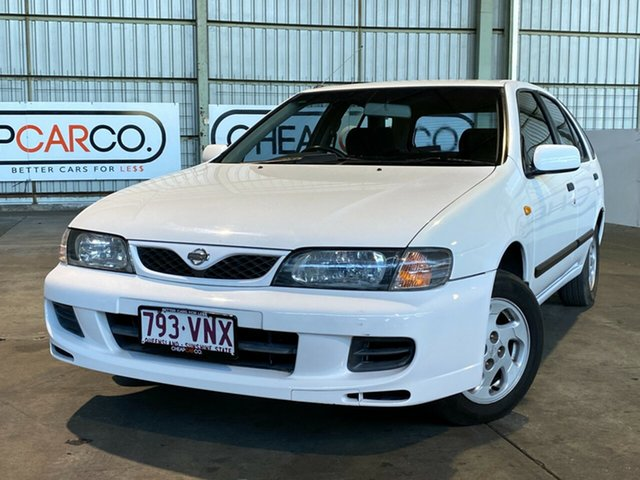 Used Nissan Pulsar N15 S2 SSS Rocklea, 1999 Nissan Pulsar N15 S2 SSS White 4 Speed Automatic Hatchback