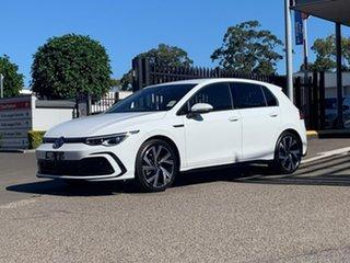 2021 Volkswagen Golf 8 MY21 110TSI R-Line White 8 Speed Sports Automatic Hatchback.