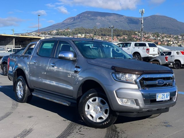 Used Ford Ranger PX MkII XLT Double Cab Moonah, 2016 Ford Ranger PX MkII XLT Double Cab Silver 6 Speed Sports Automatic Utility