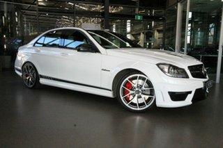 2013 Mercedes-Benz C-Class W204 MY13 C63 AMG SPEEDSHIFT MCT Edition 507 White 7 Speed.