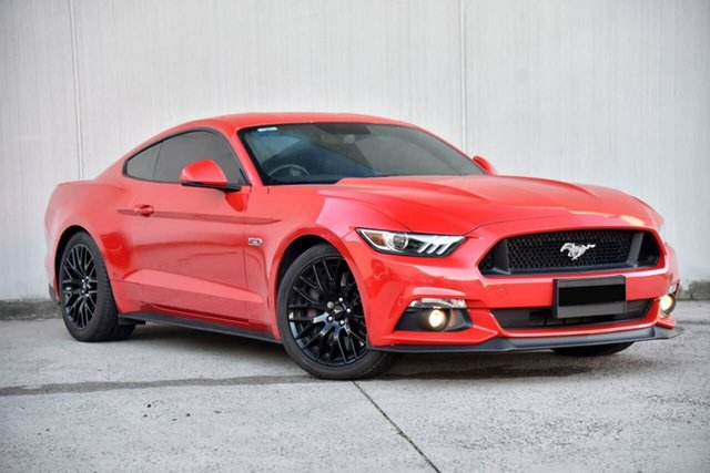 Used Ford Mustang FM GT Fastback SelectShift Oakleigh, 2016 Ford Mustang FM GT Fastback SelectShift Red 6 Speed Sports Automatic Fastback