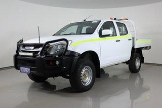 2018 Isuzu D-MAX TF MY18 SX (4x4) White 6 Speed Manual Crew Cab Chassis.