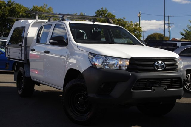 Used Toyota Hilux GUN125R Workmate Double Cab Mount Gravatt, 2016 Toyota Hilux GUN125R Workmate Double Cab White 6 Speed Sports Automatic Utility