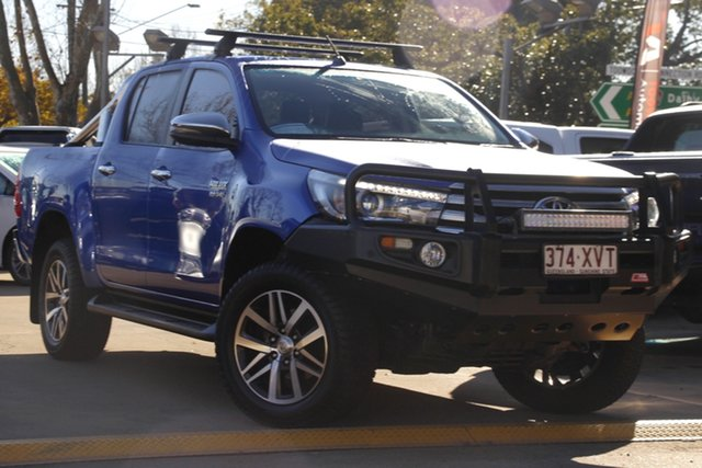Used Toyota Hilux GUN126R SR5 Double Cab Toowoomba, 2017 Toyota Hilux GUN126R SR5 Double Cab Blue 6 Speed Sports Automatic Utility