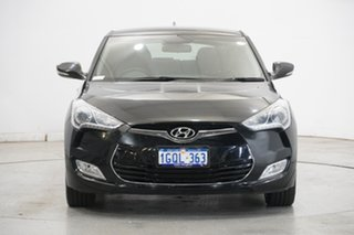 2014 Hyundai Veloster FS2 Coupe D-CT Black 6 Speed Sports Automatic Dual Clutch Hatchback.