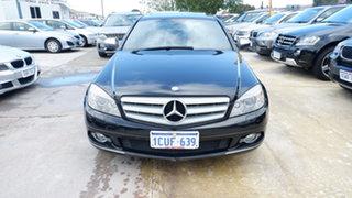 2008 Mercedes-Benz C-Class W204 C200 Kompressor Avantgarde Black 5 Speed Sports Automatic Sedan.