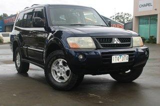 2002 Mitsubishi Pajero NM GLS LWB (4x4) Blue 5 Speed Auto Sports Mode Wagon.