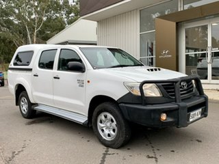 2012 Toyota Hilux KUN26R MY12 Workmate Double Cab White 4 Speed Automatic Utility.